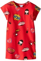 Little Marc Jacobs Short Sleeve Fancy Illustration Dress Girl's Dress