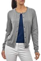 Wool Overs WoolOvers Womens Silk and Cotton Crew Neck Knitted Cardigan , M