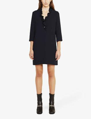 Claudie Pierlot Roulie ruffled organic-cotton mini dress
