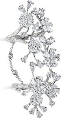 David Morris Cherry Blossom Long Finger Ring
