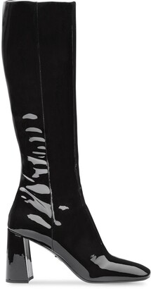 Prada fitted patent boots