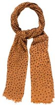 Mulberry Leopard-Printed Woven Scarf