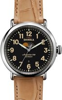 Shinola 47mm Runwell Moon Phase Watch, Tan