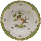 Herend Rothschild Bird Green Motif 10 Rim Soup Bowl