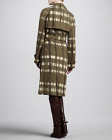 Michael Kors Hemp Canvas Trench Coat