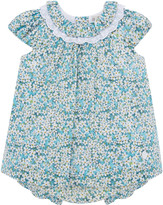 Carrera Pili Floral Collared Bishop Dress w/ Bloomers, Size 3-24 Months
