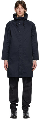 Barbour Navy Hooded Hunting Coat