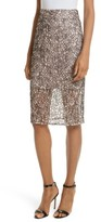 Milly Women's Corded Lace Pencil Skirt