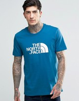 The North Face T-Shirt With Easy Logo In Blue