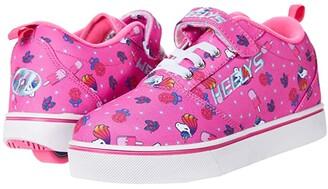 Heelys Pro 20 X2 (Little Kid/Big Kid) (Pink/Hot Pink) Girl's Shoes