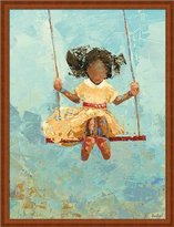 Swing No. 11 by Becky Kinkead Kids Room Abstract Wall Art Print Framed Décor