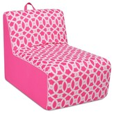 Kangaroo Trading Company Tween Foam Lounger With Handle - Loopy Passion Pink With Passion Pink Sides & Bubblegum Welt Trim - Kangaroo Trading Co.