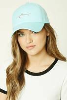 Forever 21 FOREVER 21+ Embroidered Shark Cap