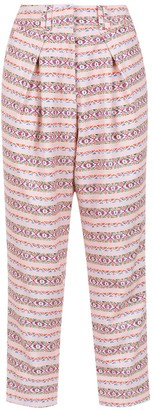 Olympiah printed Papa cropped trousers