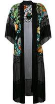 Alberta Ferretti lightweight floral coat - women - Silk/Polyamide - 42