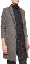 Brunello Cucinelli Double-Button Top Coat & Vest, Wheat