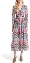 L'Agence Women's Rosalia Print Silk Maxi Dress