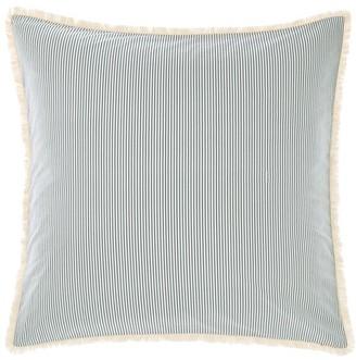 Linen House Zane Pinstripe Cotton European Pillow Case Indigo Blue