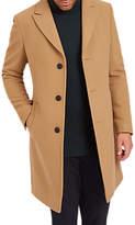 Jaeger Long Collar Button Up Coat, Camel