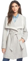 Jessica Simpson Belted Basket Weave Wrap Coat