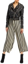 Nicole Miller Liquid Stripes Cropped Tower Pant