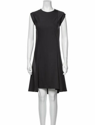 Brunello Cucinelli Crew Neck Knee-Length Dress w/ Tags Grey