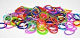 Silicone Rubber Bands Refill for Rainbow Loom-- 600 Pcs Pack with 24 C-clips -- Plus Extra 100 Magic Light Changing Bands & 20 Beads (Jelly Mixed)