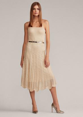 Ralph Lauren Pointelle Cocktail Dress