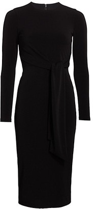 Alice + Olivia Delora Tie-Waist Sheath Dress
