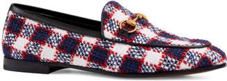 Gucci New Jordaan Vintage Tweed Check Loafers