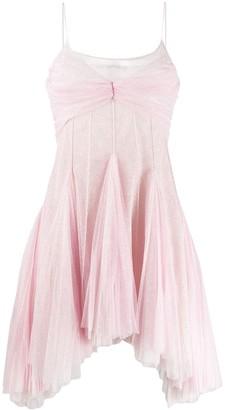 Philosophy di Lorenzo Serafini Flared Shimmer Dress