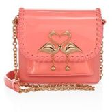 Sophia Webster Claudie Major Flamingo Patent Leather Crossbody Bag