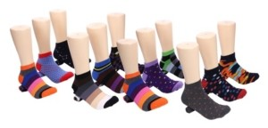 Mio Marino Men's Bold Collection Ankle Socks Pack of 12