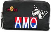 Alexander McQueen Shield patch wash bag