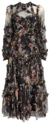 Needle & Thread Floral Diamond Ballerina Dress