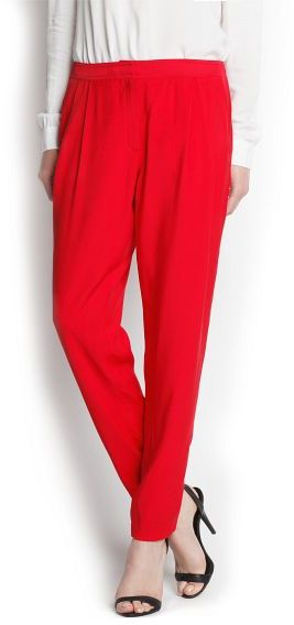 MANGO Tapered pleated trousers