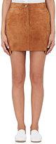 Helmut Lang Women's Suede Cargo Miniskirt-Gold