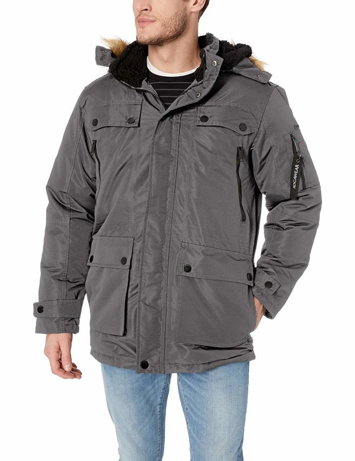 Rocawear Mens Heavyweight Outerwear Jacket