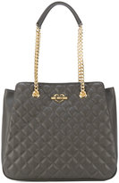 Love Moschino double-chain quilted shoulder bag - women - Polyurethane - One Size