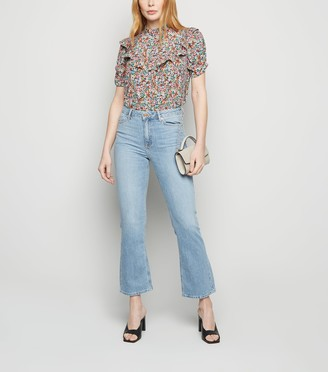New Look High Rise Crop Kick Flare Jeans