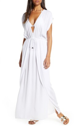 Elan International Wrap Maxi Cover-Up Dress