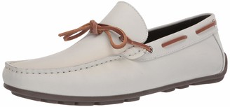 Driver Club Usa Men's Leather Luxury Loafer with Tiebow Detail Driving Style