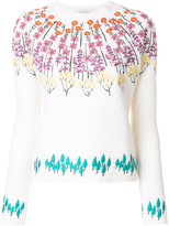 Valentino floral embroidered knitted top