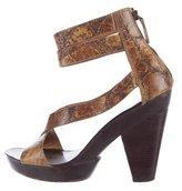 Givenchy Embossed Platform Sandals