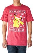 Hybrid Pokemon Pikachu Mens T-Shirt Christmas Santa Hat Graphic Print