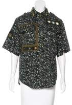 Marc Jacobs Embellished Printed Top
