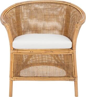 Safavieh Jessica Rattan Accent Chair W/ Cushion