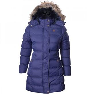 Brave Soul Womens Long Fur Trimmed Hooded Padded Puffer Parka Winter Jacket Coat UK 14 / US 12/ AUS 16/ EU 42/ Large Black