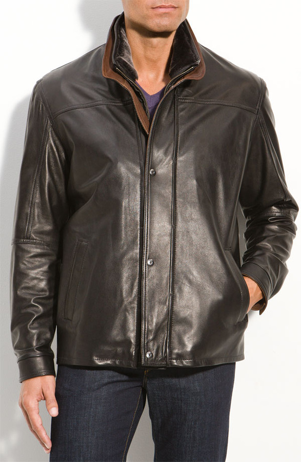 Remy Leather Washed Lambskin Leather Jacket