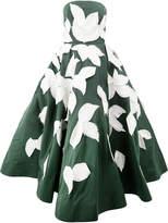 Oscar de la Renta appliqué leaf gown